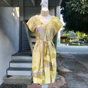 Doo.Ri 100% Silk Pleated Cocktail Dress